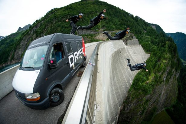tour bus jump